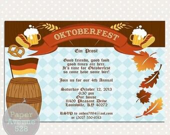 oktoberfest einladung | etsy, Einladung