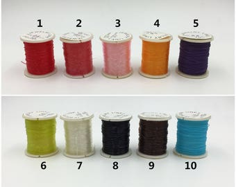 0.6mm 22 Gauge Elastic Thread Stretch Thread 10 Colors Crystal Beading Thread Elastic Bracelet Making Cord 10meters/10.9yards/32.8feet