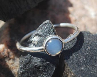 On Sale NaturalChalcedony Ring- Stone Ring - Gemstone Ring - Gemstone Jewelry - Handmade Jewelry