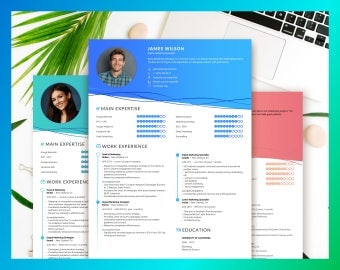 Professional resume CV Template for Word two Page Resume Teacher Resume professional Resume instant download design creative modern format