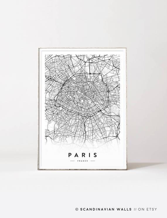Paris City Map Poster Print: Paris City Map Poster At Infoasik.co