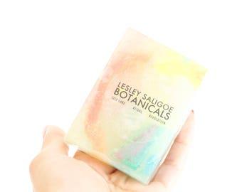 Gem Soap. Crystal Soap. Gemstone Soap. Contains Real Fluorite. Mercury In Retrograde. Rainbow. Calming Essential Oil Blend. Bath. Shower.
