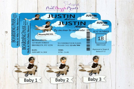Aviator baby shower boarding pass invitation up up and away baby il570xn filmwisefo