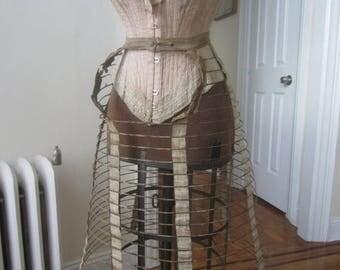 SALE Antique victorian Bustle wire hoop skirt #2