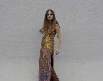 Psychedelic vintage dress years ' 70