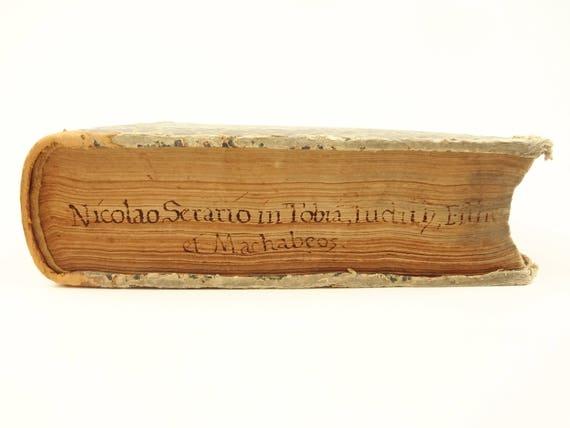 1590 Nicolaus Serarius (Jesuit) Commentarius. Libros Tobiam,Judith,Esther,Machabeos.