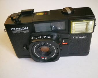 Chinon 35 F EE with New Light Seals. Ready-To-Use Vintage 1970s Point-And-Shoot Camera