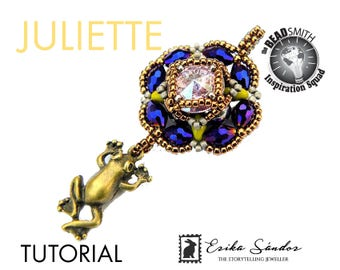 Juliette pendant - instant dowload for the pdf instructions for a top-notch beadwork project!