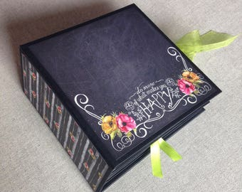 """Photo albums made of PAPER scrapbooking technique """"SLIM"""" Model on order"""