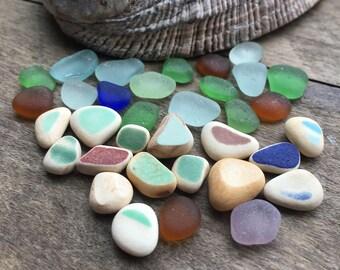 Tiny Sea Glass & Sea Pottery Pieces
