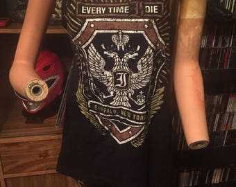 Reworked Distressed Worn Every Time I Die 2012 Tour Tank