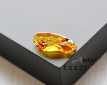 Baltic amber stone. 1 piece polished amber. Amber without holes. Polished gem stone. 2520/16