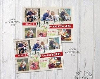 50% OFF Collage Christmas Card, Family Christmas Card, Photo Collage Card, Customized Christmas Card