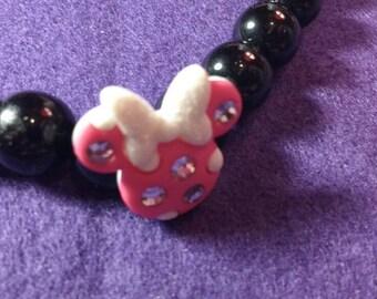 Minnie Mouse Necklace - Disney Necklace - Minnie Mouse