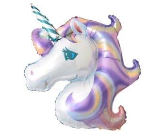 Unicorn Balloon   Unicorn Party Decor   Unicorn Birthday Party   Rainbow Party Decor   Rainbow Birthday   Whimsical Party   Unicorns  