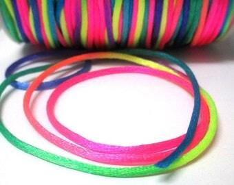 10 m nylon thread multicolor 2mm rat tail