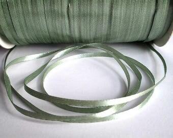 20 m lichen green 3mm satin ribbon
