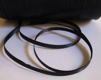 5 m black 3mm satin ribbon