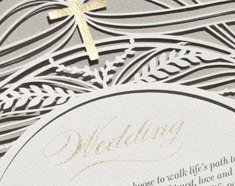 CIRCLE OF RYE romantic paper-cut Marriage Certificate | wedding vows | wedding gift