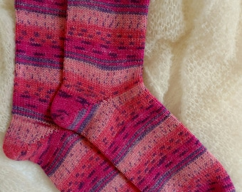 Wool Socks,  Hand Made Wool Socks, Hand Cranked Wool Socks, Boot Socks, Women's Wool Socks, Teen Wool Socks, Men's Socks, Opal Yarn Socks