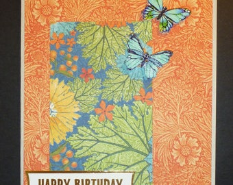 Butterfly Birthday Card 1557