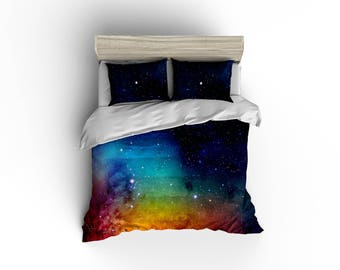 Rainbow Galaxy duvet cover