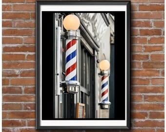 Barber Shop Poles Poster