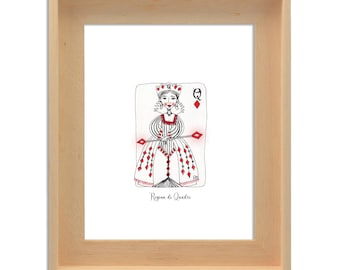 Print of the Queen of Diamonds