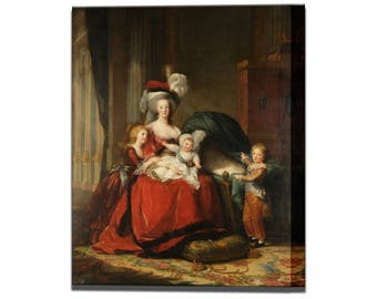 Marie Antoinette Queen of France and Her Children Painting  by Elisabeth Louise Vigee-Lebrun in 4 Sizes Ready To Hang