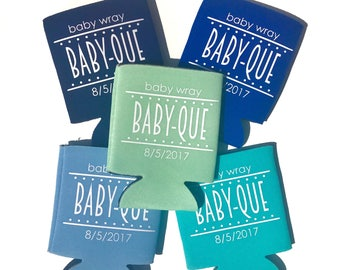 Baby-Que, BBQ, baby shower Can Cooler