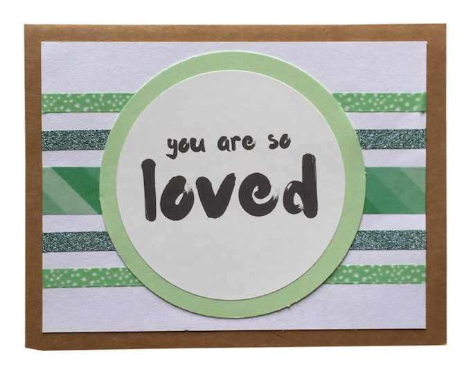 Gender Neutral Baby Card - You Are So Loved