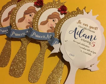 Beauty and the Beast themed invites