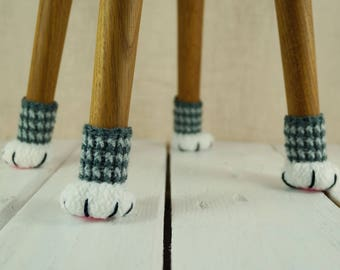 Crochet Chair Socks Etsy