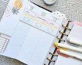 personal weekly (GRID) foldout printable planner insert