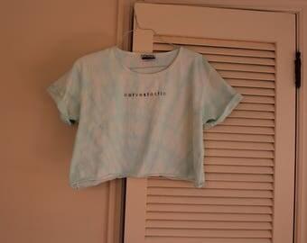 Curvestastic tie dye crop top