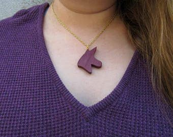 Royal Purple Unicorn Necklace