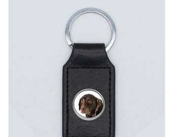 Keyring dog leather choice was clear