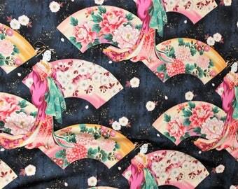 Kona Bay Fabrics, 2008, Design NOBU-17; metallic: 1/2 yard woven cotton fabric