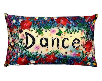 Dance Red Pillow