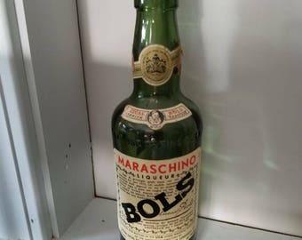 Bols Maraschino 1/2 pt. Green Liqueur Bottle