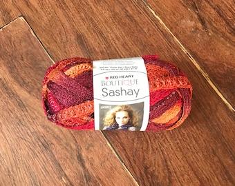 Sashay Yarn, Red Heart Yarn, Varigated Yarn, Textured Yarn, Colorful Yarn, Net Yarn, Ruffle Yarn