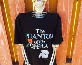 Vintage 1988 Phantom Of The Opera Tee Size Large