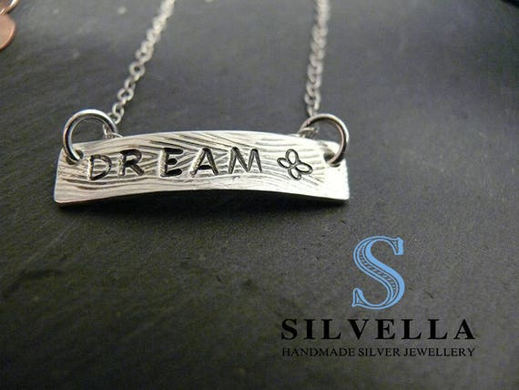 Sterling Silver DREAM necklace - Handmade in Wales - Gift For Her - Pretty Silver Dream Necklace