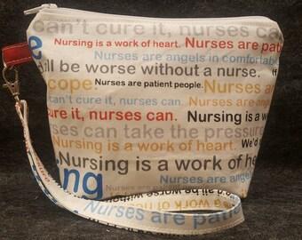 Nurses/wristlet/handmade wristlet/nursing/Nurse Gift/gift under 20