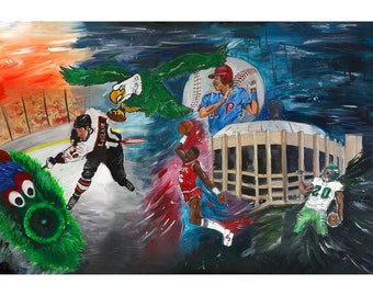 Philly Sports Mural- Print