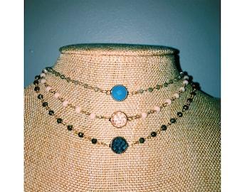 Rosary choker w pendant