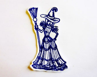Witch thermocollante fusible patch embroidery patch
