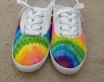 Toddlers 11 Half Rainbow Half White Shoes