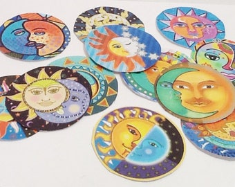 12 Sun and Moon Tags