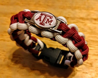 Texas A&M University Inspired Paracord Bracelet